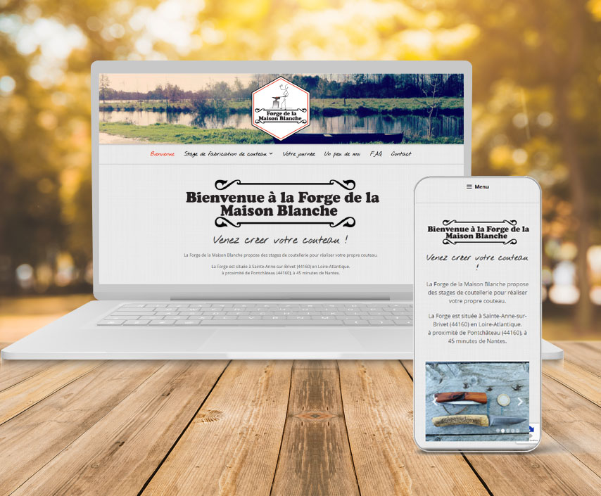 forge maison blanche coutelier forge stage savenay pontchateau 44260 creation site internet webdesign la toile numerique